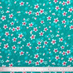 Tissu coton Akiko Turquoise