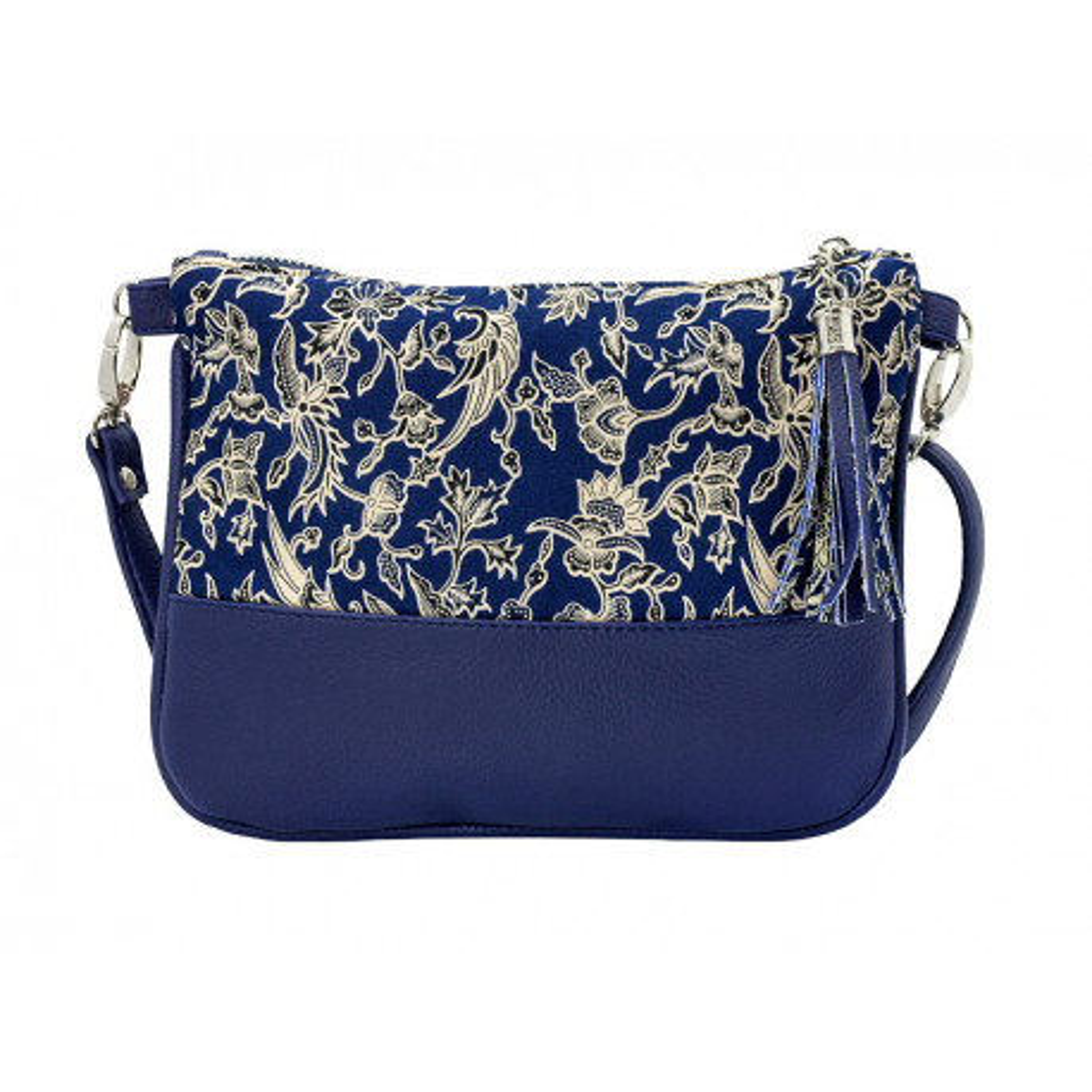 Sac à main pochette femme bleu indigo