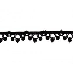 Ruban dentelle guipure noir