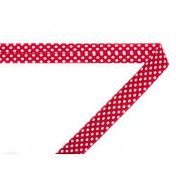 Biais coton imprimé Pois rouge