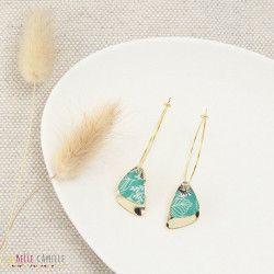 NINON boucles d'oreilles Tropicales turquoise