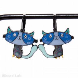 Boucles d'oreilles Minette Bleu