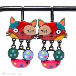Boucles d'oreilles Chats Malicieux