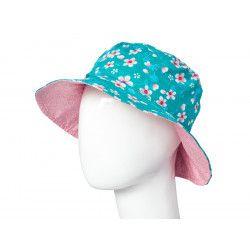 Chapeau coton réversible enfant Akiko Blue