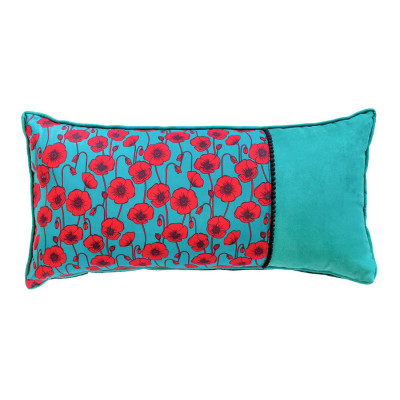 Coussin rectangle Coquelicots