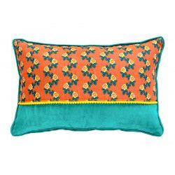 Petit coussin rectangle Flores Abricot
