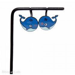 Boucles d'oreilles Baleines bleues