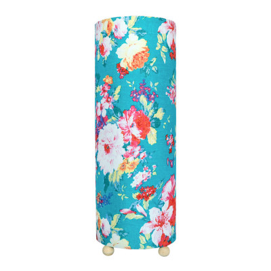 Grande lampe tube à poser Frida Turquoise