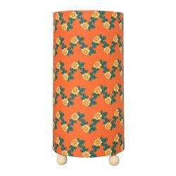 Petite lampe tube à poser Flores Abricot