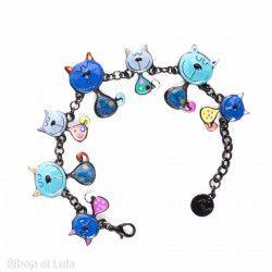 Bracelet Chats bleus