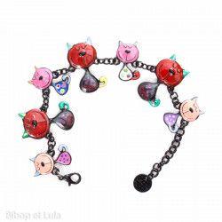 Bracelet Chats rouges