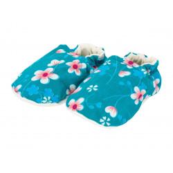 Chaussons bébé souples Akiko Blue