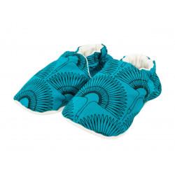 Chaussons bébé souples Grue