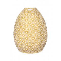Lampion tissu boule japonaise ruche Solas Gold