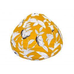 Lampion tissu boule japonaise goutte Coco Yellow