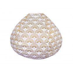 Lampion tissu boule japonaise goutte Grue Bronze