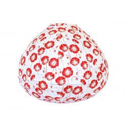 Lampion tissu boule japonaise goutte Poppy