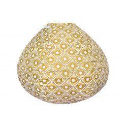 Lampion tissu boule japonaise goutte Solas Gold