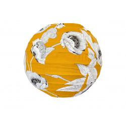 Mini lampion tissu Coco Yellow