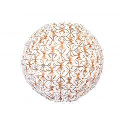 Mini lampion tissu Kipas Bronze
