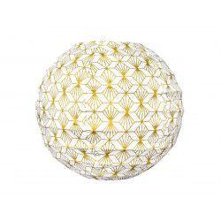 Mini lampion tissu Kipas Or