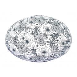 Lampion tissu boule japonaise ovale Bouquet