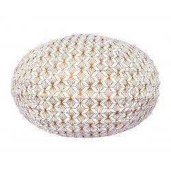 Lampion tissu boule japonaise ovale Kipas Bronze