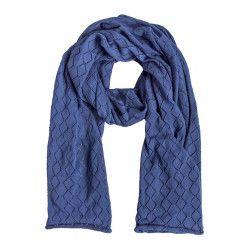 Etole en coton ajourée Lapis Lazuli