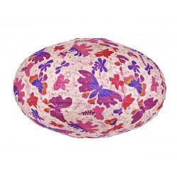 Lampion ovale Papillons violets