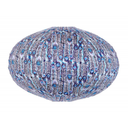 Lampion ovale Pikok bleu