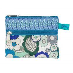 Petit porte-monnaie deux compartiments Rétro Blue