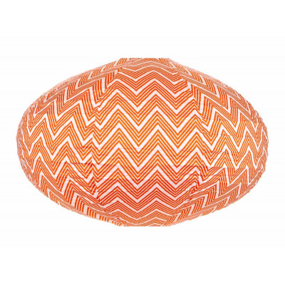 Lampion tissu ovale Zig zag orange