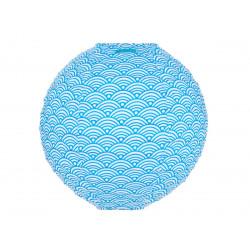 Lampion tissu rond Nami bleu