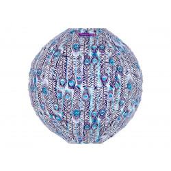 Lampion tissu Pikok bleu