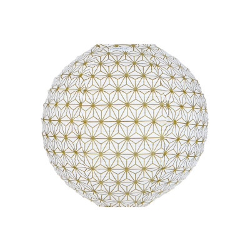 Lampion tissu Asanoha or
