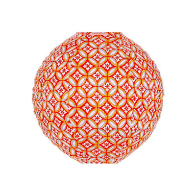 Lampion tissu rond Azulejos orange