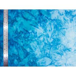 Coton Batik Marbré Bleu Glacier