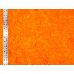 Coton Batik Marbré Orange Tangerine