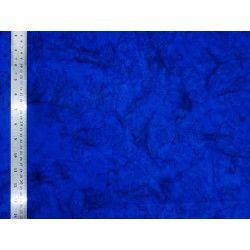 Coton Batik Marbré Bleu Indigo