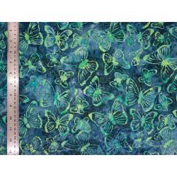 Coton Batik Night Buterflies