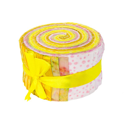 Jelly roll tissu Bouton d'Or