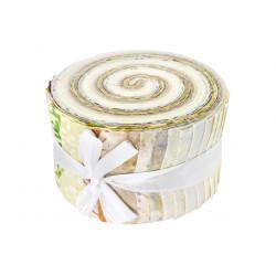 Jelly roll tissu Neige