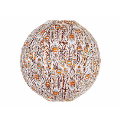 Lampion tissu rond Pikok orange
