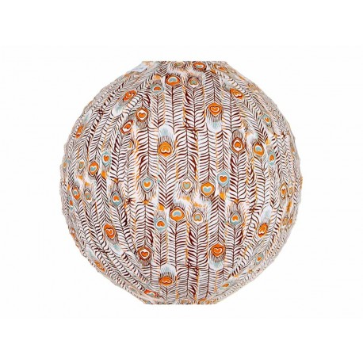 Lampion tissu rond Pikok orange