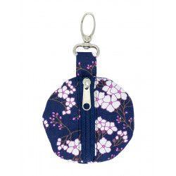Porte-clé porte-monnaie rond Kitami rose