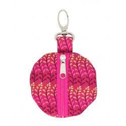 Porte-clé porte-monnaie rond Ada pink