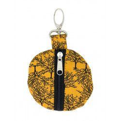 Porte-clé porte-monnaie rond Yellow Trees