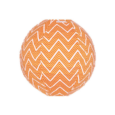 Lampion tissu rond Zig zag orange