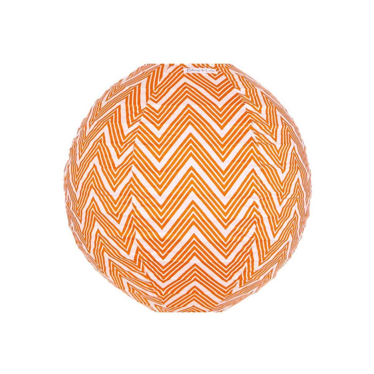 Lampion tissu rond Zig zag orange