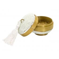 Petite boite à offrande perles et pompon